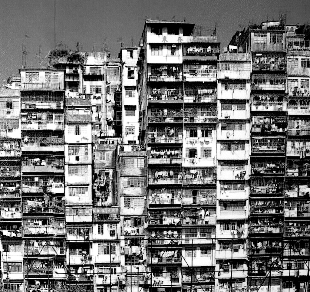 Kowloon Walled city en 1990