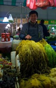 Vendeur au marché