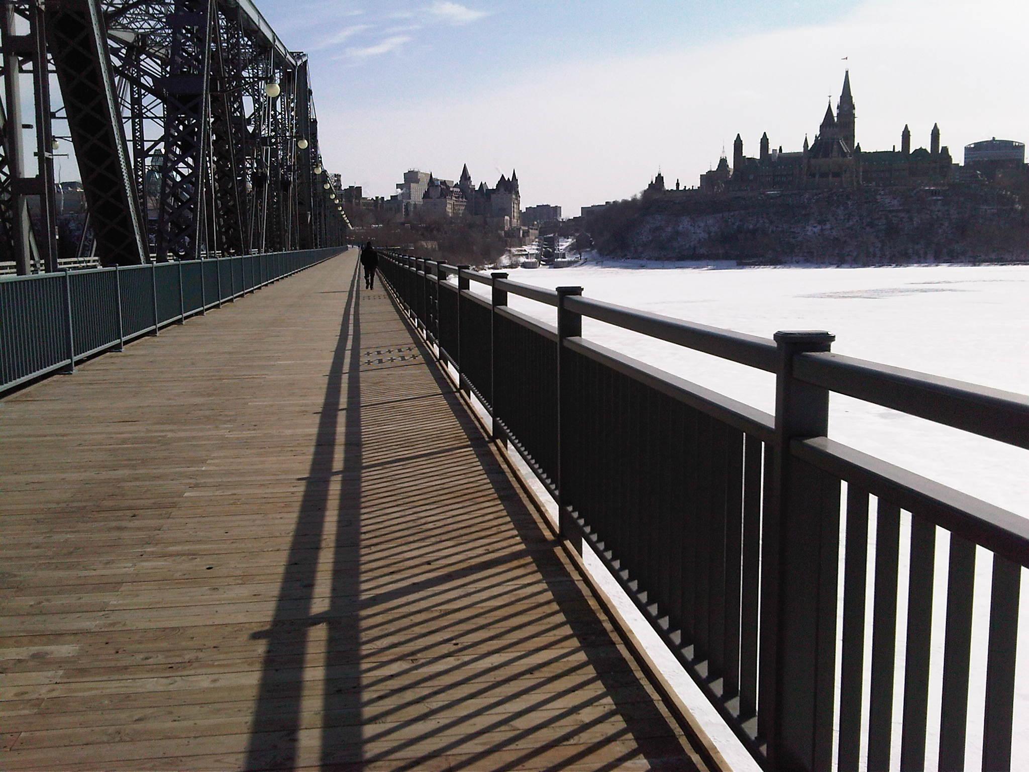 «Dans mon 'stade', c'est ma ligne de départ du 5 km.» Crédit photo Luc Levesque, de Training for Boston