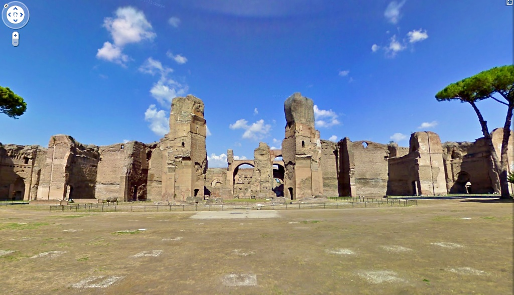 Thermes de Caracalla dans Google Sreet View