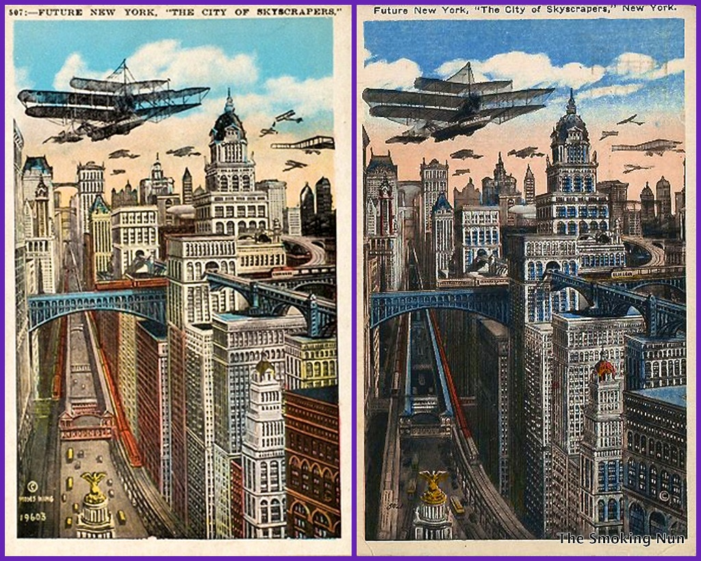Future New York-The City of Skycrapers-1910