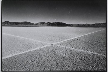 "Walter De Maria, ""Desert Cross,"" El Mirage Dry Lake, 1969"