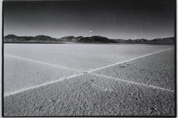 "Walter De Maria, ""Desert Cross,"" El Mirage Dry Lake, 1969"