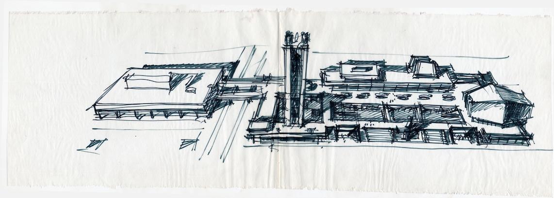 Boris Roubanenko, étude du Palais de la Culture de Togliatti, 1969