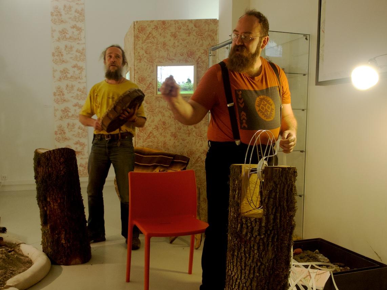 Pipelines Songlines, performance de Matthieu et Ludovic Duperrex