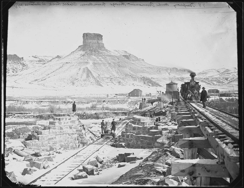 A. J. Russel, Citadel Rock, Green River, Wyoming, 1868