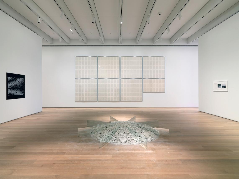 Robert Smithson, Chalk-Mirror Displacement, 1969