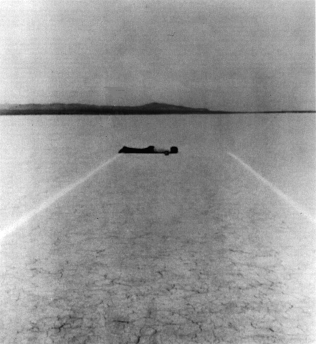 Walter de Maria, One mile long drawing, 1968