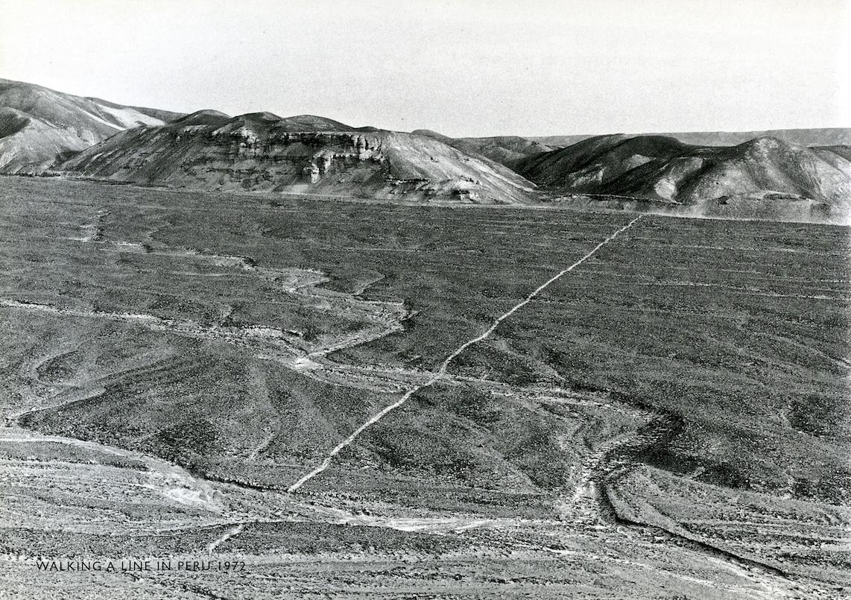 Richard Long, Walking a line in Peru, 1972