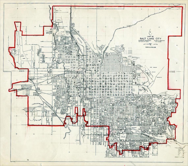 Gianni Pettena, Red line, Salt Lake City, 1972