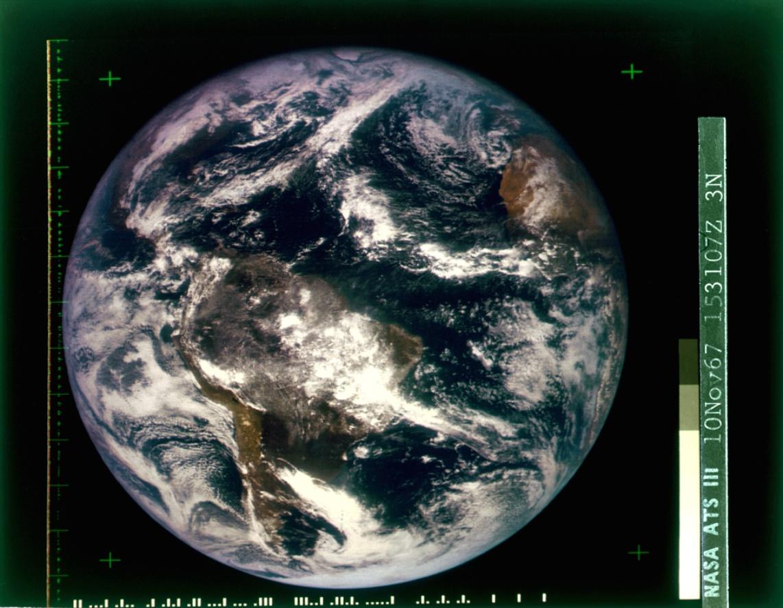 Nasa, Blue Marble, ATS-3, novembre 1967