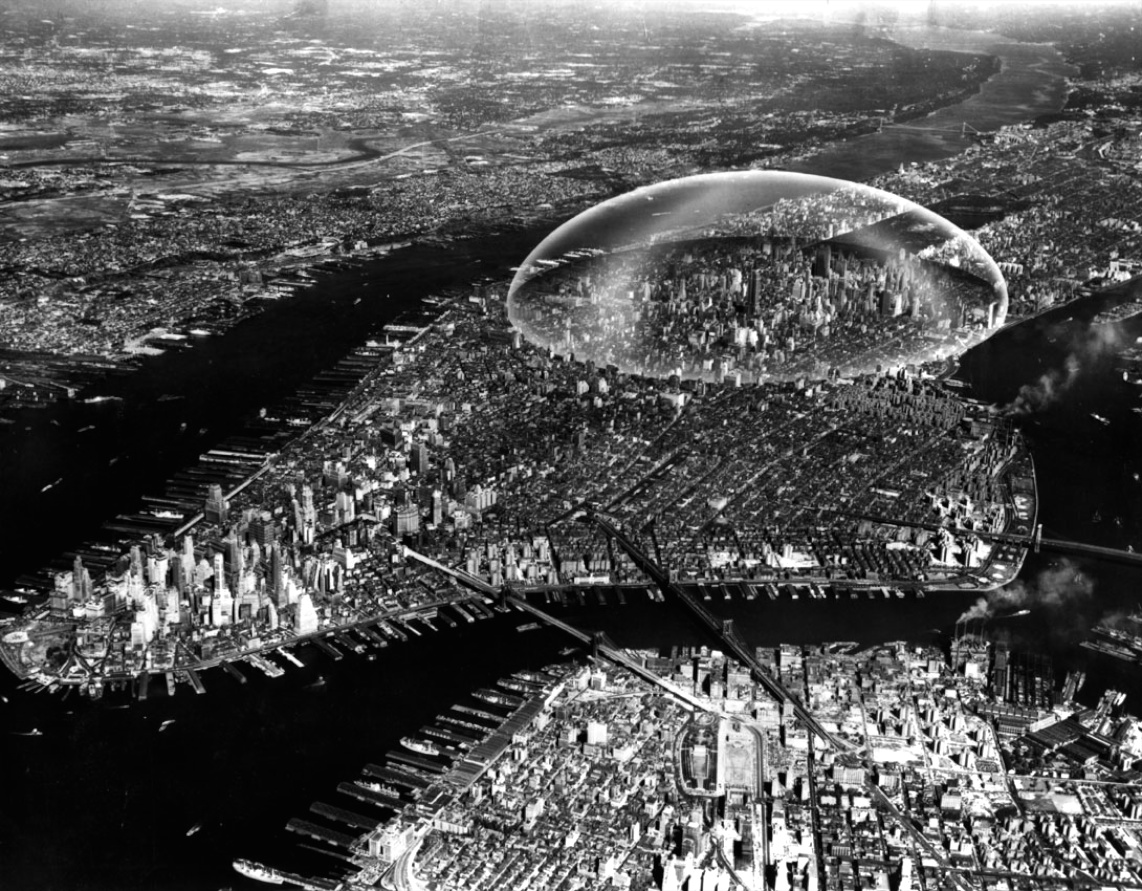Buckminster Fuller, Dome over Manhattan, 1960