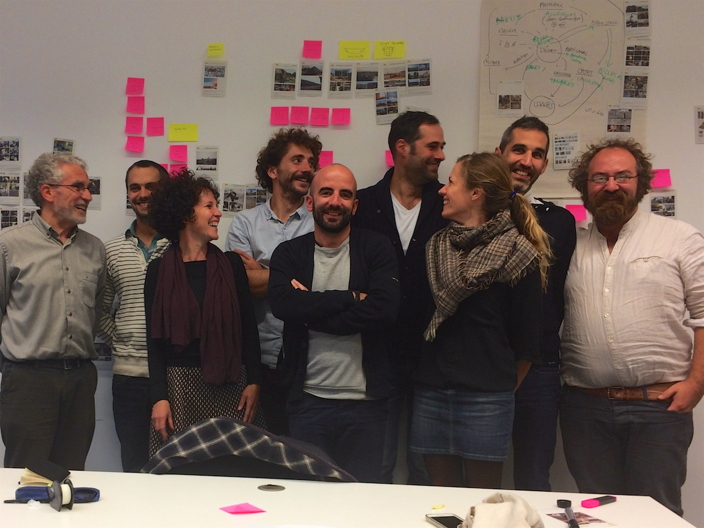 Lors d'un workshop de conception, octobre 2015