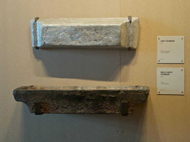Lingot d'aluminium et son moule, le Caire — ©Matthieu Duperrex
