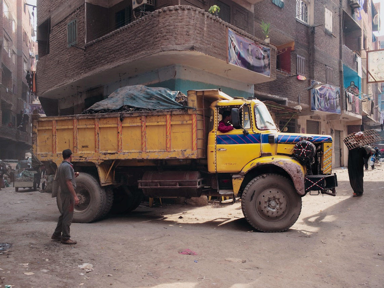 Camion transportant des déchets organiques au Caire – ©David Degner