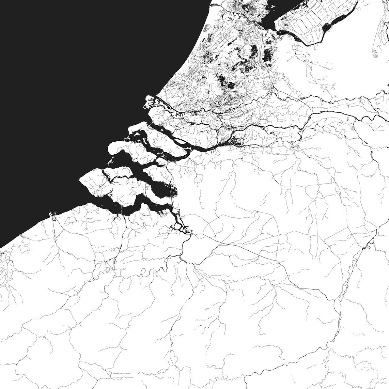 Eurodelta, projet pour Bruxelles 2040 © Bureau Bas Smets