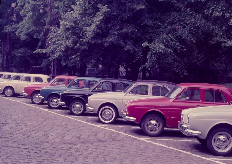 Gamme Renault Dauphine, présentation, 1956 © Renault Communication