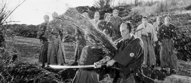 Image extraite du film Sanjuro realisé par Akira Kurosawa, en 1962 - Scène de fin (45″)