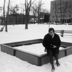 Smithson on a sand box in Passaic in 1968. (Photo by Nancy Holt)
