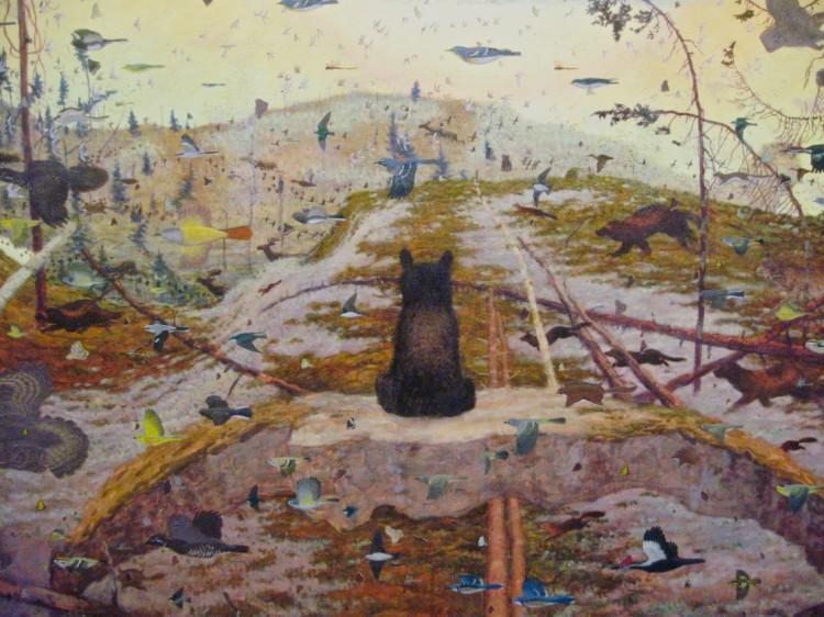Tom Uttech, Enassamishhinjijweian, 2009 (détail, Crystal Bridges Museum of American Art)