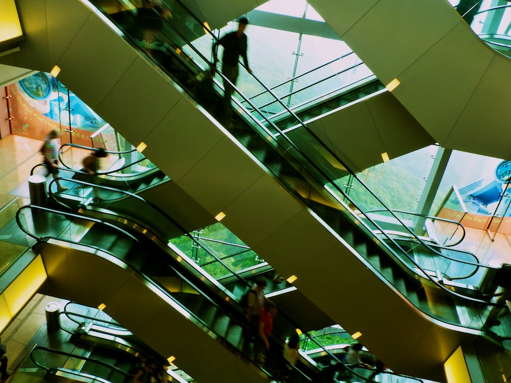 Escalators de Peak Tower