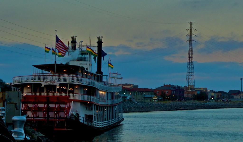 Le vapeur Natchez sur le Mississippi