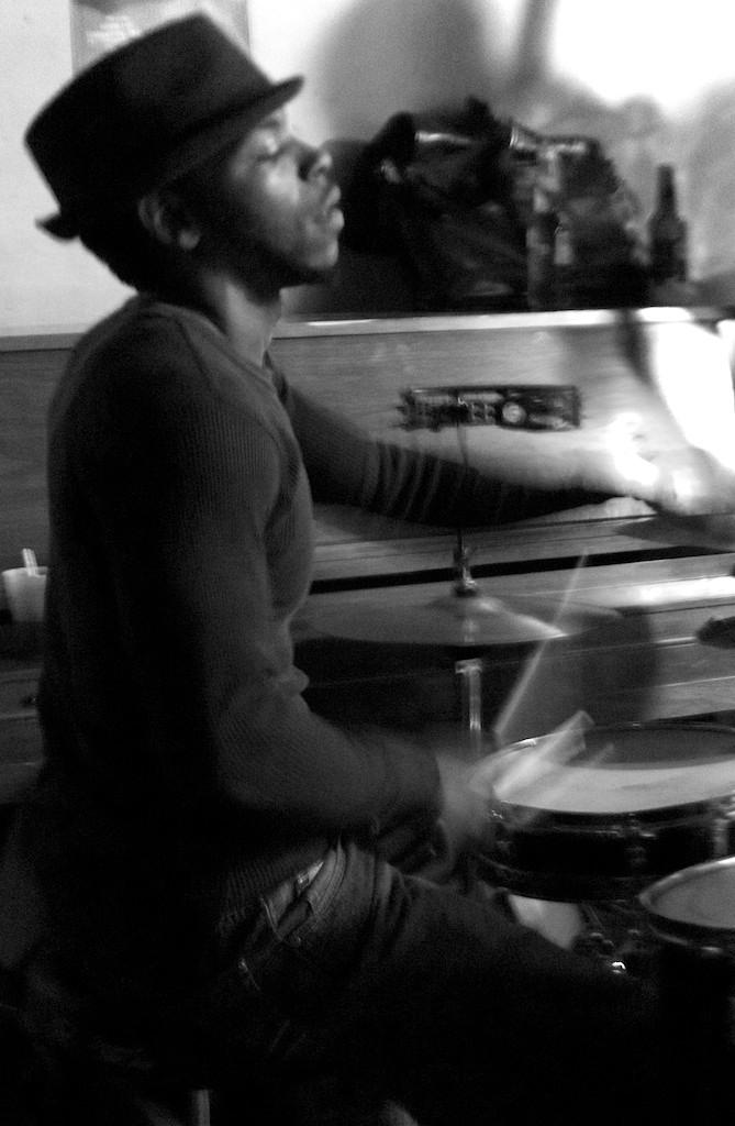 Concert au Spotted Cat, Julian Addison à la batterie.