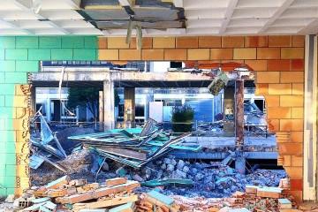 L'université du Mirail en cours de démolition-reconstruction.
